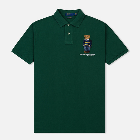 Мужское поло Polo Ralph Lauren Different Logo Bear New Forest