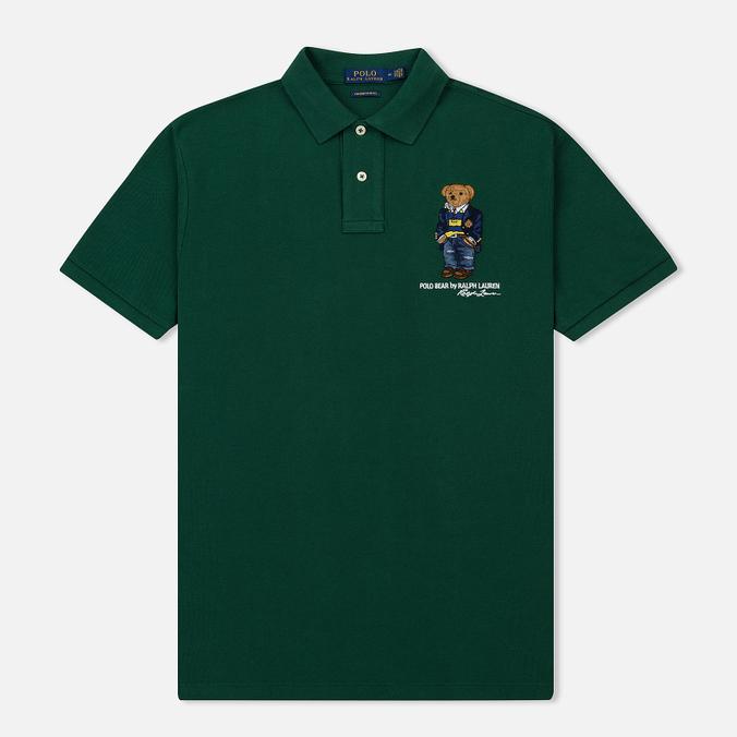 Мужское поло Polo Ralph Lauren Different Logo Bear New Forest