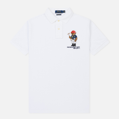 Мужское поло Polo Ralph Lauren Different Logo Bear White
