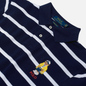Мужское поло Polo Ralph Lauren Embroidered Bear Stripe Basic Mesh Cruise Navy/White фото - 1