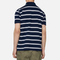 Мужское поло Polo Ralph Lauren Embroidered Bear Stripe Basic Mesh Cruise Navy/White фото - 3