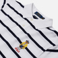 Мужское поло Polo Ralph Lauren Embroidered Bear Stripe Basic Mesh White/Cruise Navy фото - 1