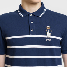 Мужское поло Polo Ralph Lauren Embroidered Polo Bear Stripe Cruise Navy/White фото- 2