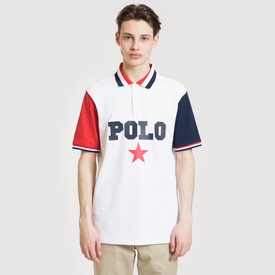Мужское поло Polo Ralph Lauren Graphic Polo And Red Star White/Multicolor