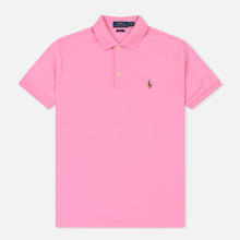 Мужское поло Polo Ralph Lauren Logo Embroidered Slim Fit Harbor Pink фото- 0