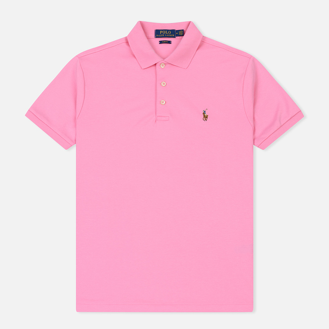Мужское поло Polo Ralph Lauren Logo Embroidered Slim Fit Harbor Pink
