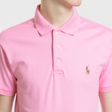 Мужское поло Polo Ralph Lauren Logo Embroidered Slim Fit Harbor Pink фото- 3