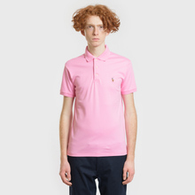 Мужское поло Polo Ralph Lauren Logo Embroidered Slim Fit Harbor Pink фото- 1