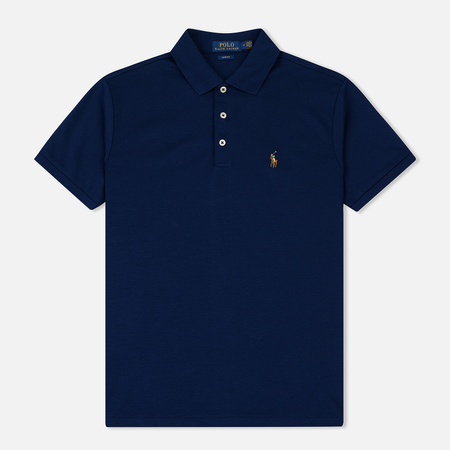 Мужское поло Polo Ralph Lauren Logo Embroidered Slim Fit Holiday Navy
