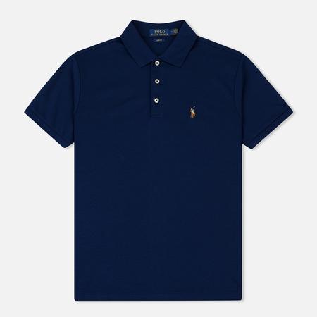 Мужское поло Polo Ralph Lauren Logo Embroidered Slim Fit Holiday Navy
