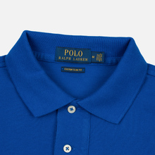 Мужское поло Polo Ralph Lauren Polo Pony Mini Logo Basic Mesh Pacific Royal фото- 1