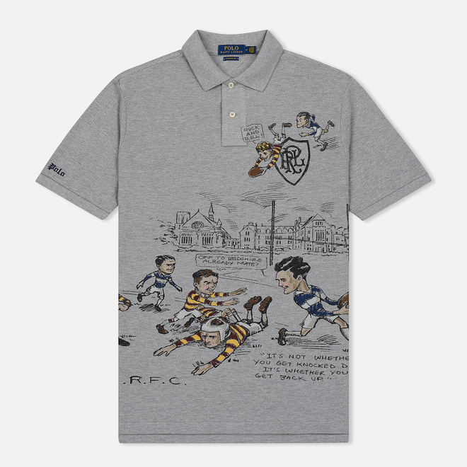 Мужское поло Polo Ralph Lauren Rugby Game Print Andover Heather