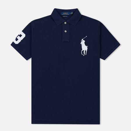 Мужское поло Polo Ralph Lauren Slim Fit Cotton Mesh Big Logo Navy