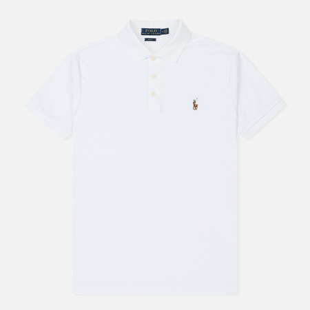 Мужское поло Polo Ralph Lauren Slim Fit Soft-Touch White