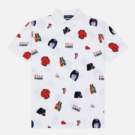 Мужское поло Polo Ralph Lauren Stadium Graphic Print White/Multicolor