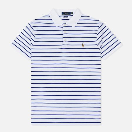 Мужское поло Polo Ralph Lauren Stripe Pima White/Heritage Royal