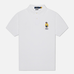 Мужское поло Polo Ralph Lauren Yachting Bear Embroidered White