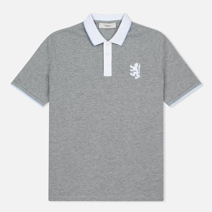Мужское поло Pringle of Scotland Lion Logo Grey Melange