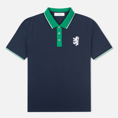 Pringle of Scotland Lion Logo Men's Polo Navy