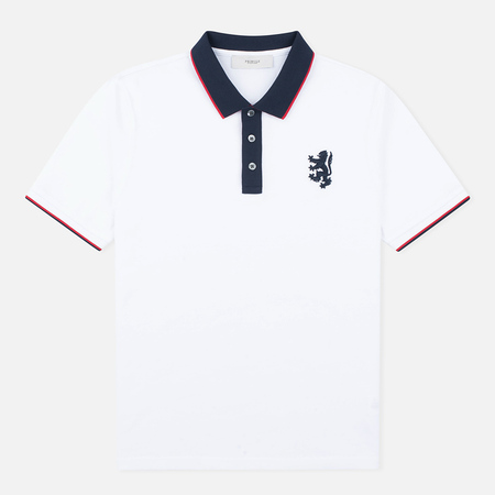 Pringle of Scotland Lion Logo Men's Polo White