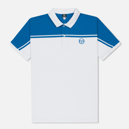 Мужское поло Sergio Tacchini New Young Line Archivio White/Royal