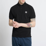 Мужское поло Stone Island Cotton Pique Black фото- 5