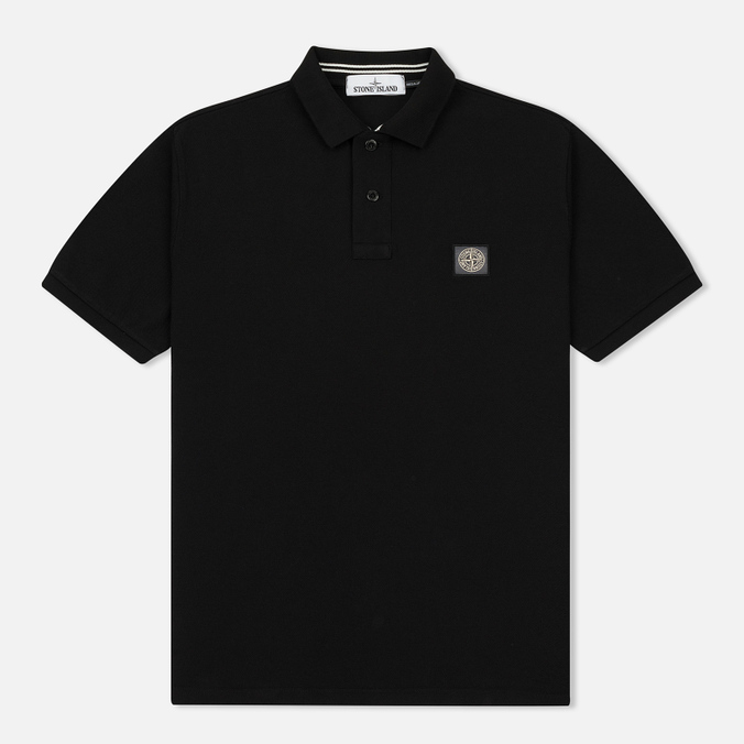 Мужское поло Stone Island Cotton Pique Black