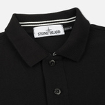 Мужское поло Stone Island Cotton Pique Black фото- 1