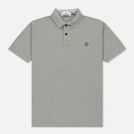 Мужское поло Stone Island Cotton Pique Grey