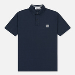 Мужское поло Stone Island Cotton Pique Marine Blue фото- 0