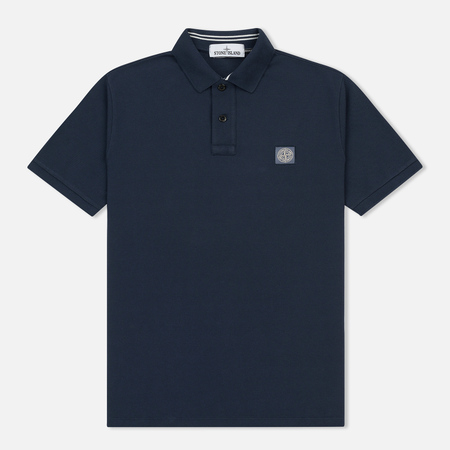 Мужское поло Stone Island Cotton Pique Marine Blue