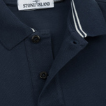 Мужское поло Stone Island Cotton Pique Marine Blue фото- 3