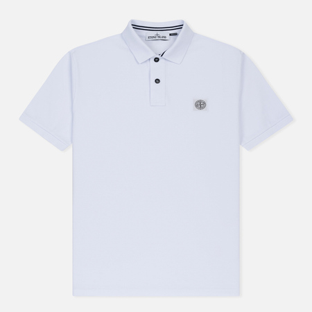 Мужское поло Stone Island Cotton Pique White