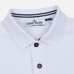 Мужское поло Stone Island Cotton Pique White фото- 1