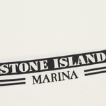 Мужское поло Stone Island Marina White/Blue фото- 3