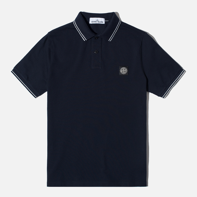 Мужское поло Stone Island Patch Program Dark Navy