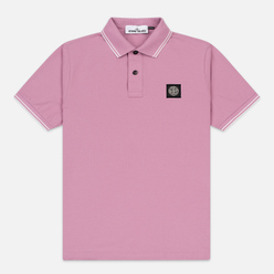 Мужское поло Stone Island Patch Program Quartz Pink