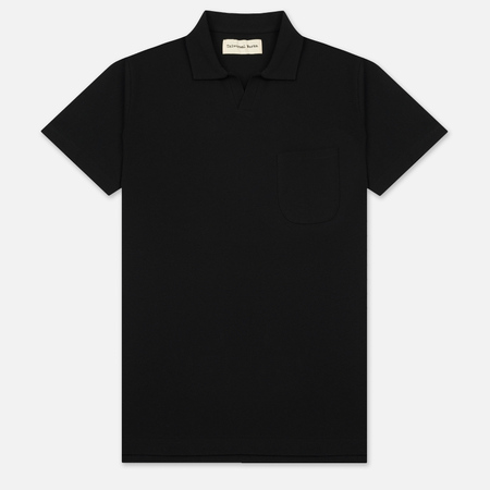 Мужское поло Universal Works Piquet Fine Piquet Cotton Black
