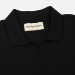 Мужское поло Universal Works Piquet Fine Piquet Cotton Black фото- 1
