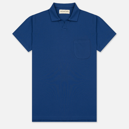 Мужское поло Universal Works Piquet Fine Piquet Cotton Royal Blue