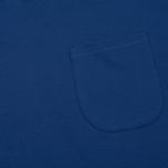 Мужское поло Universal Works Piquet Fine Piquet Cotton Royal Blue фото- 2