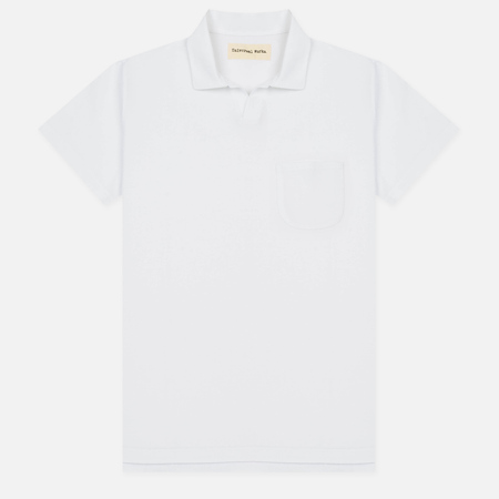 Мужское поло Universal Works Piquet Fine Piquet Cotton White