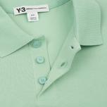 Мужское поло Y-3 Classic Logo Left Sleeve Light Green фото- 2