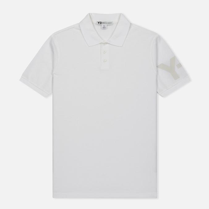 Мужское поло Y-3 Classic Logo Left Sleeve White