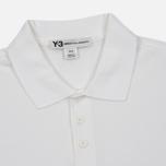 Мужское поло Y-3 Classic Logo Left Sleeve White фото- 1