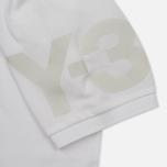 Мужское поло Y-3 Classic Logo Left Sleeve White фото- 2