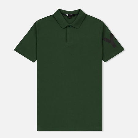 Мужское поло Y-3 Classic Regular Fit Field Green