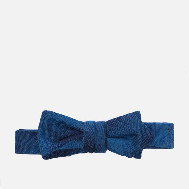 Мужской галстук-бабочка The Hill-Side Ombre Plaid Flannel Indigo