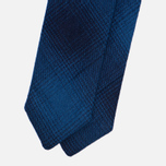 Мужской галстук-бабочка The Hill-Side Ombre Plaid Flannel Indigo фото- 1