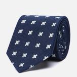 Мужской галстук Blue Blue Japan J5589 Abacus Dot Bassen Printed Indigo фото- 1